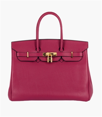 Jane Gold & Pink Handbag
