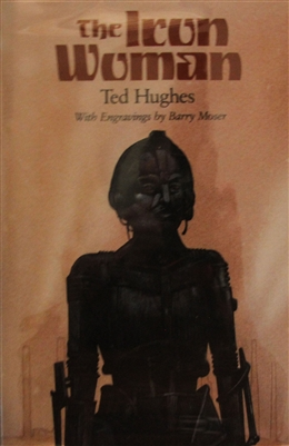 cover of The Iron Man by Ted Hughes with engravings of Barry Moser