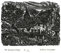Signed original wood engraving by Miriam Macgregor