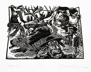 signed wood engraving by Raymond Gloeckler