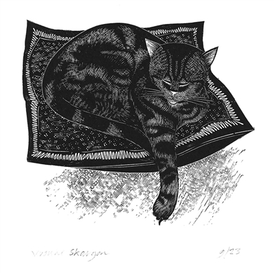 Signed wood engraving by Yvonne Skargon