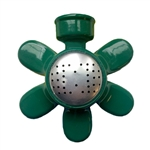 004052 QVS Standard Series Green Flower Metal Rectangle Sprinkler