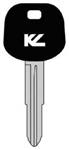 TOY57-PT TOYOTA MR2 KEYLINE TRANSPONDER KEY BLANK