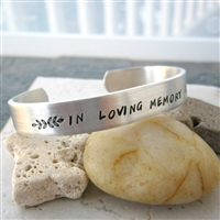 Memorial Bracelet, In Loving Memory, double sided
