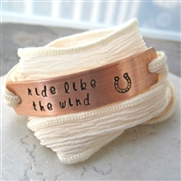 Ride Like the Wind Bracelet, silk ribbon wrap