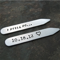 I Still Do Personalized Anniversary Collar Stays