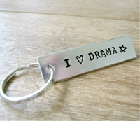 I Love Drama Key Chain, personalized