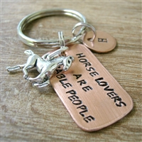 Horse Lover's are Stable People Keychain