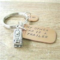 Camper Keychain, My Other Car is a Camper, Trailer