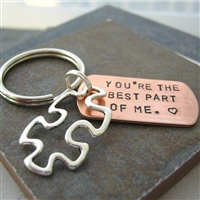 Puzzle Piece Key Chain, Couples