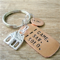 Realtor Keychain, I Came I Saw I Sold