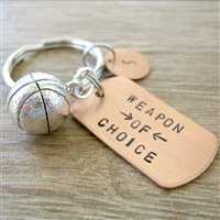 Basketball Weapon of Choice Keychain