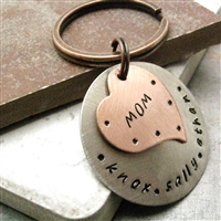 Personalized Mother's Heart Key Chain