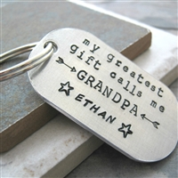 My Greatest Gift Calls Me Grandpa Key Chain