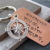 Go With all Your Heart Key Chain