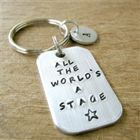 All the World's A Stage Key Chain, Drama, Acting