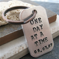 One Day at a Time Key Chain, add a date