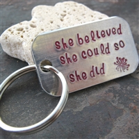 she believed she could so she did key chain
