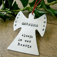 Personalized Memorial Angel Ornament 2015