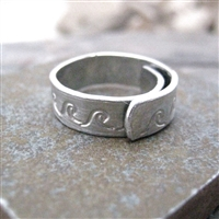 Making Waves Aluminum Cuff Ring