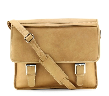 BACCI Leather Zipper Flap Over Briefcase Style : 10010