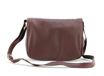 Large Flap Over Triple Compartment Shoulder Bag Style : 10036