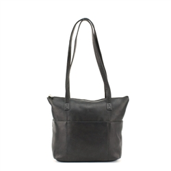 Small Tote with Pockets Style : 10077 - Brown