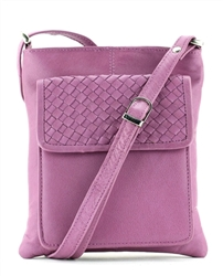 Braided Flap Cross Body Style : 1122 - Pink