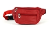 MEDIUM LEATHER FANNY PACK: STYLE #: 1207 RED