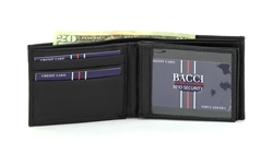 RFID Blocker BI Fold Wallet with two Top Flaps