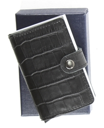 RFID SAFE CARD CASE BLACK CROC