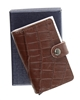 RFID SAFE CARD CASE BROWN CROC