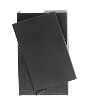 RFID SAFE CARD CASE ALUMINIUM BLACK