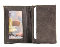 Top Grain Cowhide Gusseted Card Case Style : 15628