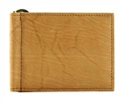 Top Grain Cowhide Slim Card Wallet w/ Money Clip Style : 15634