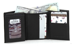 Bacci Cowhide Tri Fold Flap Over Wallet Style : 15695