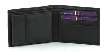 Bacci Top Grain Cowhide Bi-fold Wallet with extra card holder style 15707