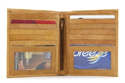 Large Top Grain Hipster Bi-Fold Wallet Style :17606