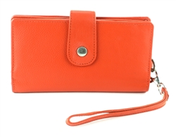 Snap Closure Wristlet Style : 1912 ORANGE