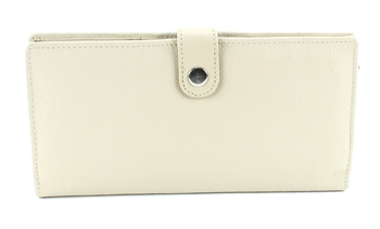 Double zippered Wristlet whit snap closure Style #1913 BEIGE