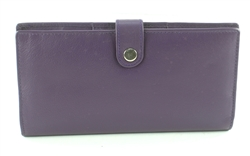 Double zippered Wristlet whit snap closure Style #1913 PURPLE