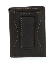 Aspen Slim Card Case With Magnetic Money Clip Style : 2419 BROWN