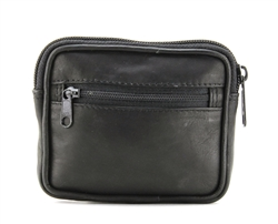 Cowhide Coin Purse - Black Style 3002