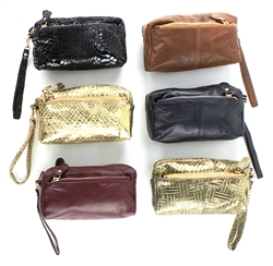 Wristlet metallic colors assorted