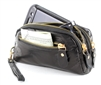 Wristlet Black Soft Leather