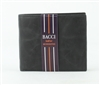 El Dorado Black Leather Center Flap Bifold Wallet Style: 3515