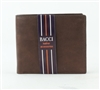 El Dorado Brown Leather Center Flap Bifold Wallet Style: 3515