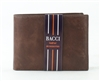 El Dorado Brown Leather Bi-Fold Wallet with Removable Top Flap Style: 3522