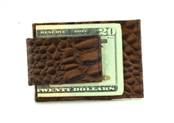 EMB CROC CARD HOLDER MONEY CLIP STYLE : 512ZC