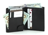 Lambskin Bi-fold Wallet with Center Clip: Style # 689